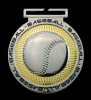 Dual Plated Medallion - Baseball Dual Plated Medal Awards