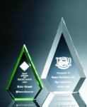 Beveled Peaks Acrylic Award Achievement Award Trophies