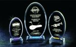 Beveled Oval Acrylic Award Achievement Award Trophies