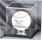 Baseball - Mirrored Display Case Ball Holder Trophies