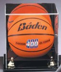 Mirrored Display Case Ball Holder Trophies