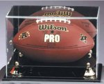 Football - Mirrored Display Case Ball Holder Trophies