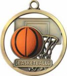 Basketball - Game Ball Medal Basketball Medals