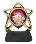 Star Resin Mylar Holder Billiards/Pool Trophy Awards