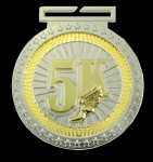 Dual Plated Medallion - 5K Dual Plated Medal Awards