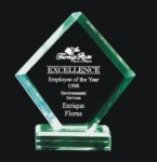 Economy Beveled Polygon Acrylic Award Employee Awards