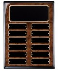 Burl Piano Finish Perpetual Plaque Employee Awards