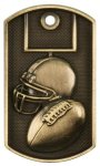 3-D Dog Tag - Football Football Medals