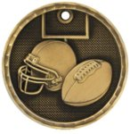 3-D Medal - Football Football Trophy Awards