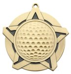 Super Star Medal - Golf Golf Awards