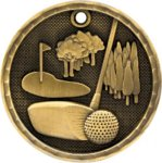 3-D Medal - Golf Golf Awards
