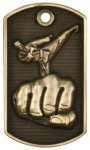 3-D Dog Tag - Karate Karate Trophy Awards