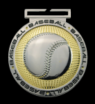 Dual Plated Medallion - Baseball Medals