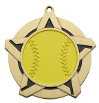 Super Star Medal - Softball Medals