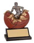 Male Basketball Explosion Resin Trophy Plaque Awards