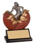 Female Basketball Explosion Resin Trophy Plaque Awards