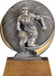 Basketball - Motion Extreme Resin  Plaque Awards