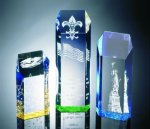 Hexagon Top Tower Acrylic Award Presidential Acrylic Awards