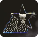 Shooting Star Acrylic Award Star Acrylic Awards