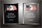 Eagle Flag Plaque Star Acrylic Awards