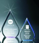 Beveled Teardrop Acrylic Award Traditional Acrylic Awards