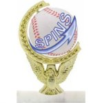 Spinning Ball Figure on Base Trophy Award