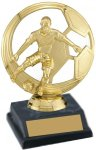 Figure on Black Marble Plastic Base Trophy Award