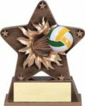 Starburst Resin - Victory Torch  Volleyball Trophy Awards