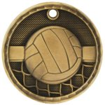3-D Medal - Volleyball Volleyball Trophy Awards